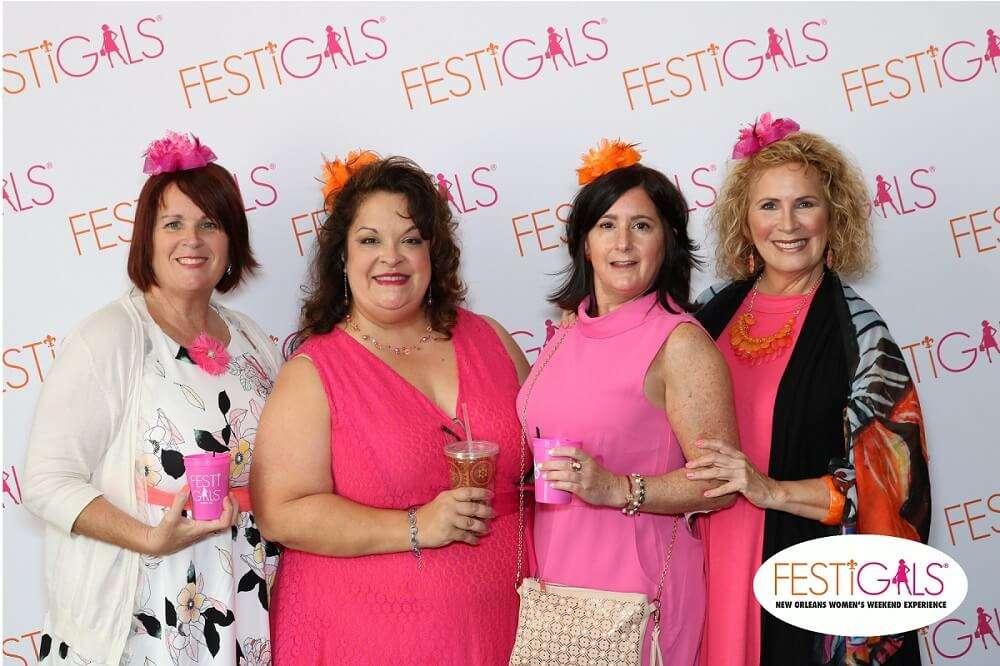 Pretty in Pink at a Corporate Event Photo Booth