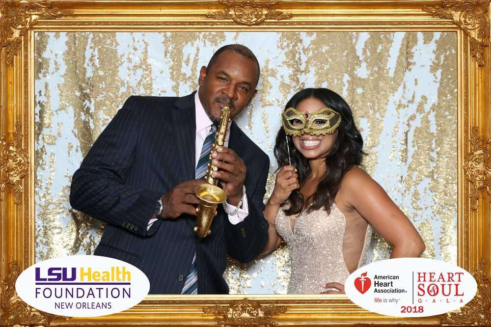 Couple Enjoying the Corporate Event Photo Booth