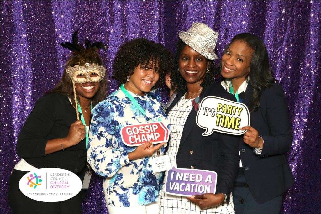 Girls Just Wanna Have Fun at a Corporate Event Photo Booth